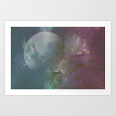 Sea,Moon Art Print