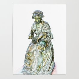 The Leics Seamstress Statue Poster