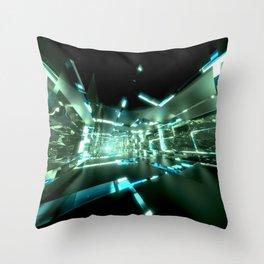 Emerald Tunnels no2 Throw Pillow
