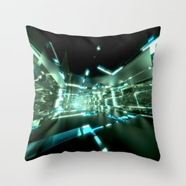 Emerald Tunnels no2 Throw Pillow