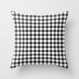 Black gingham Throw Pillow