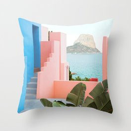 Muralla Roja Throw Pillow