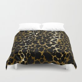 Animal Print Pattern Black and Brown Duvet Cover