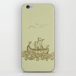 Viking ship iPhone Skin