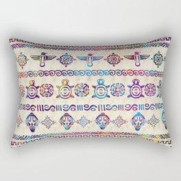 Maya / Aztec Gentle Watercolor pattern Rectangular Pillow