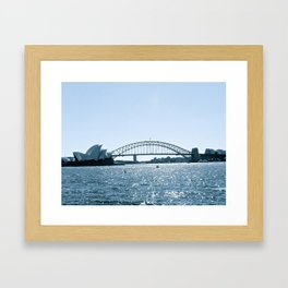 A picture perfect for a postcard. Framed Art Print
