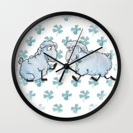 Three Leaves Clover Wall Clock