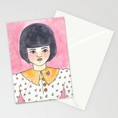 Pink Brooch Stationery Cards
