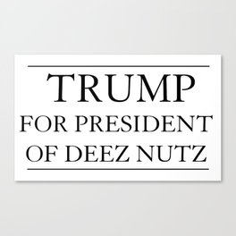 Trump For President of Deez Nutz Canvas Print