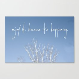 perks of being a wallflower - life is happening Canvas Print