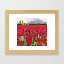Spring tulips Framed Art Print