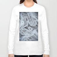 monet Long Sleeve T-shirts featuring Monet Style Blue abstract by David Pyatt