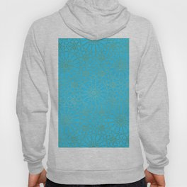 Moroccan Nights - Gold Teal Mandala Pattern - Mix & Match with Simplicity of Life Hoody