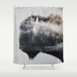 Wild West Bison Shower Curtain