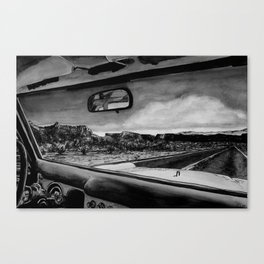 Through the Windshield Canvas Print