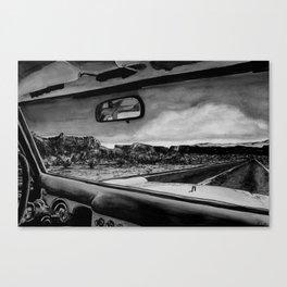 Through the Windshield Canvas Print