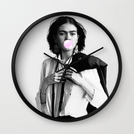 Bubble Gum - Frida Kahlo Wall Clock