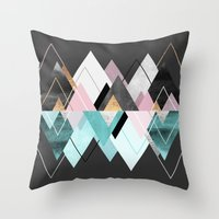 nordic Throw Pillows featuring Nordic Seasons by Elisabeth Fredriksson