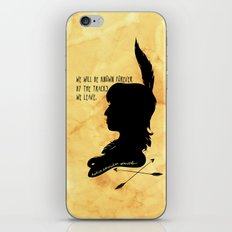 We Will Be Known Forever by the Tracks We Leave iPhone & iPod Skin