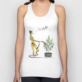 Rainbow Weed Babe - Higher Life Unisex Tank Top