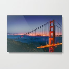 Blue Hour at Golden Gate Bridge (USA) Metal Print