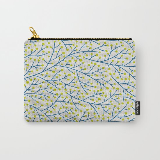 Berry Branches - Lime & Blue Carry-All Pouch