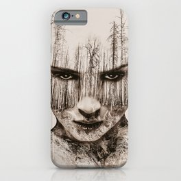 Vintage Double Exposure iPhone Case