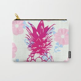 Beautiful Pineapple Flowers Pattern Carry-All Pouch