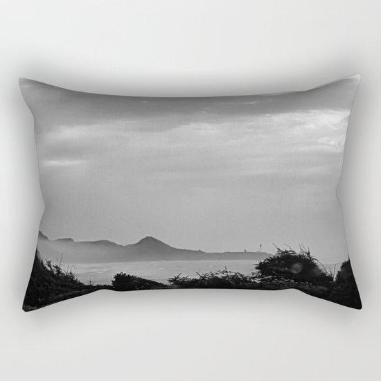 Violent Shores in Black and White Rectangular Pillow