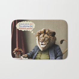 Hungry Lion Bath Mat