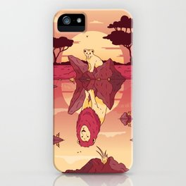 LION POOL REFLECTION ART DESIGN iPhone Case