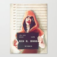 red riding hood Canvas Prints featuring Red Riding Hood by adroverart