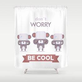 Be cool. Panda Shower Curtain