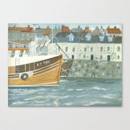 Harbour Cottages Canvas Print