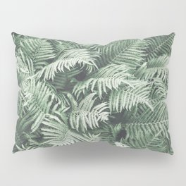 Fern Pattern Emerald Green Pillow Sham