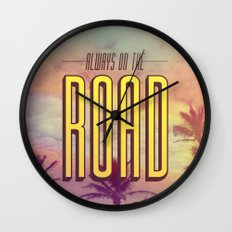 Always On The Road Wall Clock