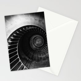 The Spiral Staircase black and white photograph / black and white photography Stationery Cards