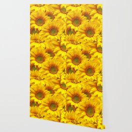 Yellow Mellow Sunflower Bouquet #decor #society6 #buyart Wallpaper