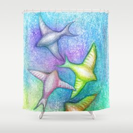 Skydivers Shower Curtain