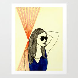 Long hair, don't care. Art Print