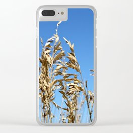 Marsh Grasses Sea Oats Clear iPhone Case