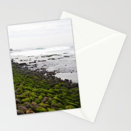 Green Rock on the Shore Stationery Cards