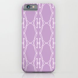 Lilac Organic Mesh Pattern iPhone Case