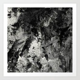 Impossibility - Textured, black and white abstract Art Print