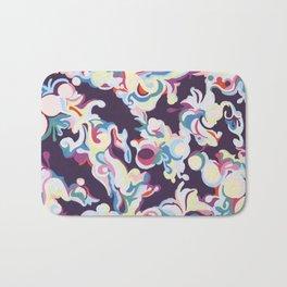 Dark Purple Abstract Tapestry Bath Mat