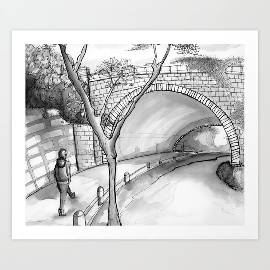 Bronx Park Scene Art Print