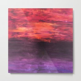 """Sunrise, Sunset"" - Original Acrylic Painting by Elizabeth Anne Metal Print"