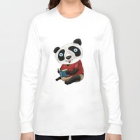 panda Long Sleeve T-shirts featuring Panda by gunberk