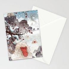 Snow Monkeys Stationery Cards