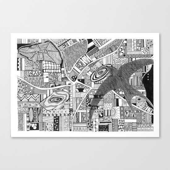 Fly Above Canvas Print